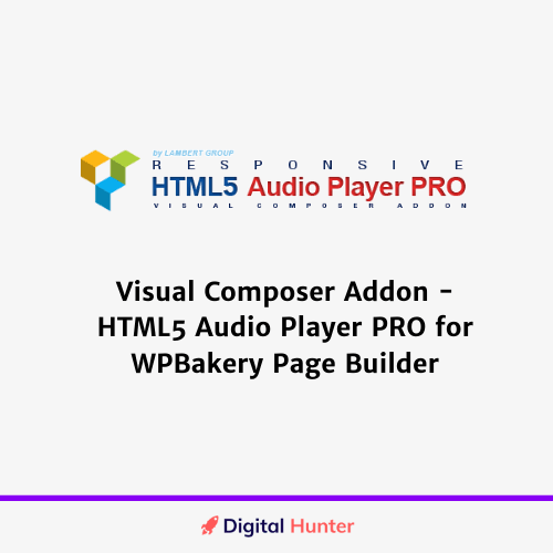 Visual Composer Addon - HTML5 Audio Player PRO for WPBakery Page Builder